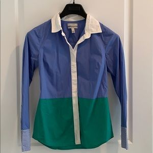J. Crew Colorblock Dress Shirt